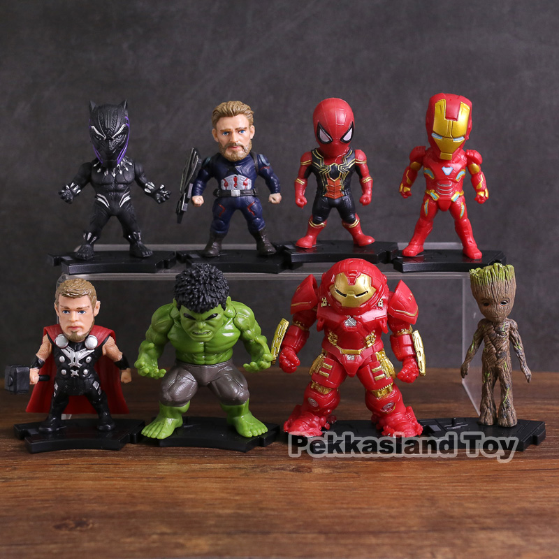 THANOS Pantera Nera IRONMAN HULK MARVEL Avengers Super Eroi Mini FIGURES