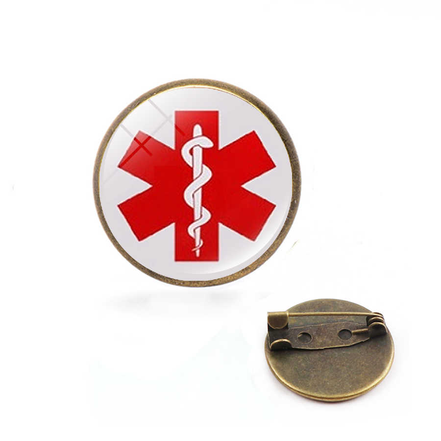כוכב של חיים סוכרתי רפואי התראת תג רופא שיניים סיכת רופא אחות מתנה SOS סמל תכשיטי מעיל חולצות פין