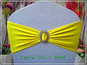 1/2--With Oval Buckle Spandex Bands/Lycra Band/Expand Bands/Chair cover sash For Wedding Home Party Banquet Decorations