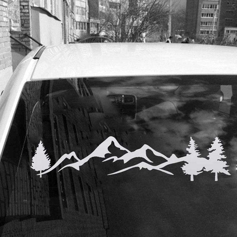 Tree Mountain Decal Scene Large Northwest 100cm Car Sticker Truck RV Offroad