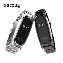 Mijobs Stainless Steel Strap Plus for Xiaomi Mi Band 2 Replacement Accessories Metal Bracelet Watchband Screwless Wristband
