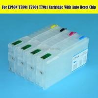 4 Color/Set recarga cartucho de tinta T7901-T7904/T790 790 para Epson WorkFore/5110/5190/ 5620/5690 con arco Chips