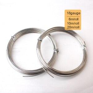 Рулон из мягкой медной проволоки с серебряным покрытием, диаметр 18 мм, рулон 1 мм, 20 м, 10 м, 6 м, для самостоятельного изготовления ювелирных из...