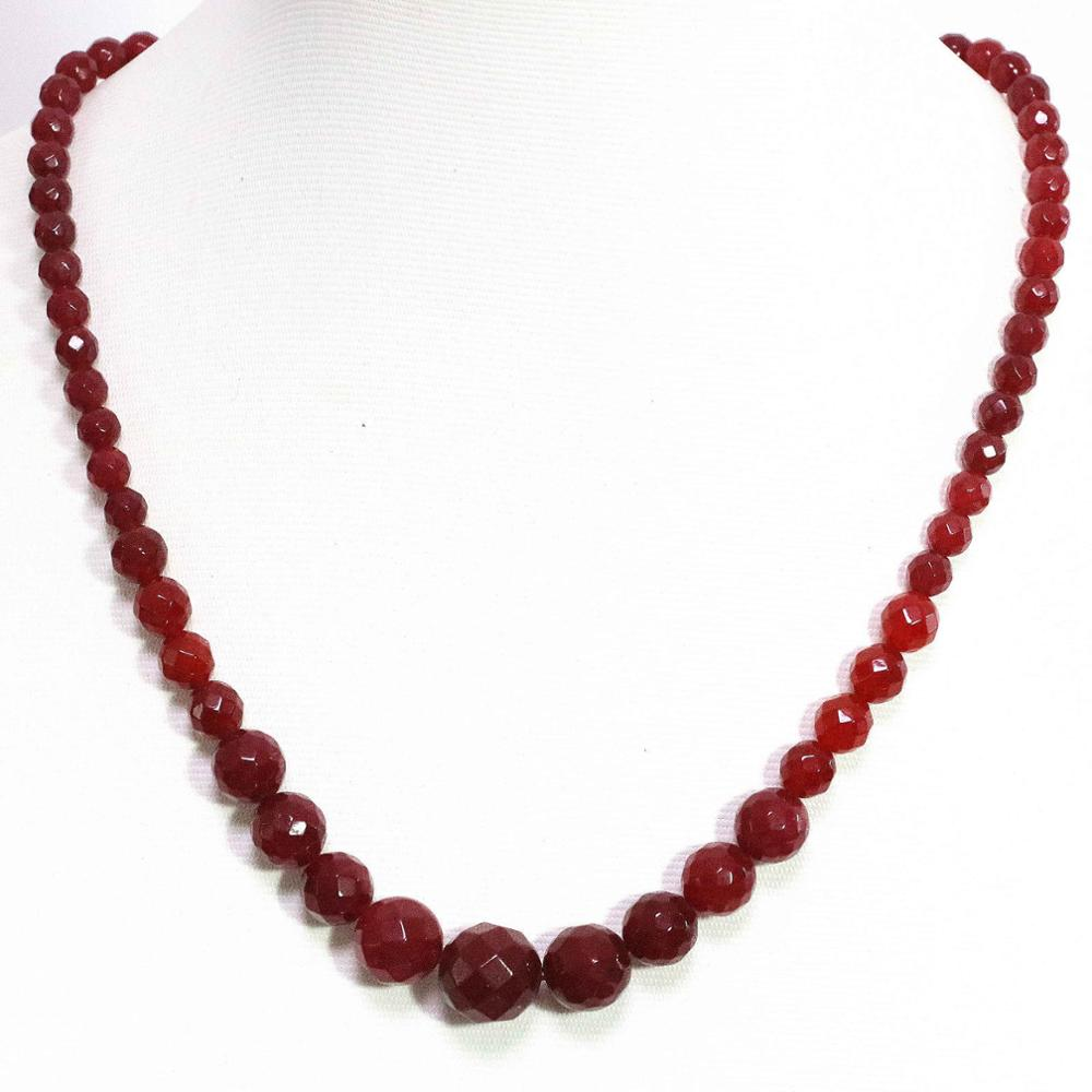 6-14mm Brazilian Rose Ruby Necklace 18/'/' Charming