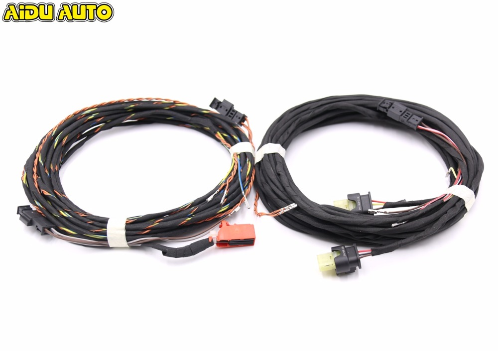 For VW Passat CC 3C B6 Intelligent Parking Assist Park Assist PLA 1.5 Install Wiring Harness cables use fit for golf 6 jetta mk6 auto intelligent parking assist 12k park assist pla 2 0 upgrade ops install harness wire
