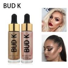 New 2018 Make Up Professional Highlighter Bronzer Waterproof Shimmer Face Contour Glowing Golden Makeup