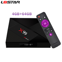X99 4GB 64GB Android TV Box Rockchip RK3399 2.4G 5G Dual WiFi Smart TV BOX Support Type C USB3.0 Streaming Box with IR Remote