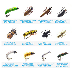 Image 2 - YAZHIDA nuovo 90pcs wet dry fly fishing set ninfa streamer poper vola legatura materiale kit di richiamo di pesca scatola di attrezzatura per le carpe trota