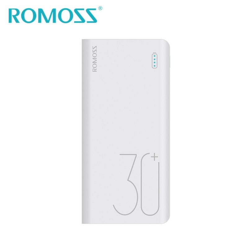 ROMOSS Sense8 + batterie externe 30000 mAh batterie externe de secours Support d'alimentation Lightning type-c QC3.0 Charge rapide pour Android iPhone