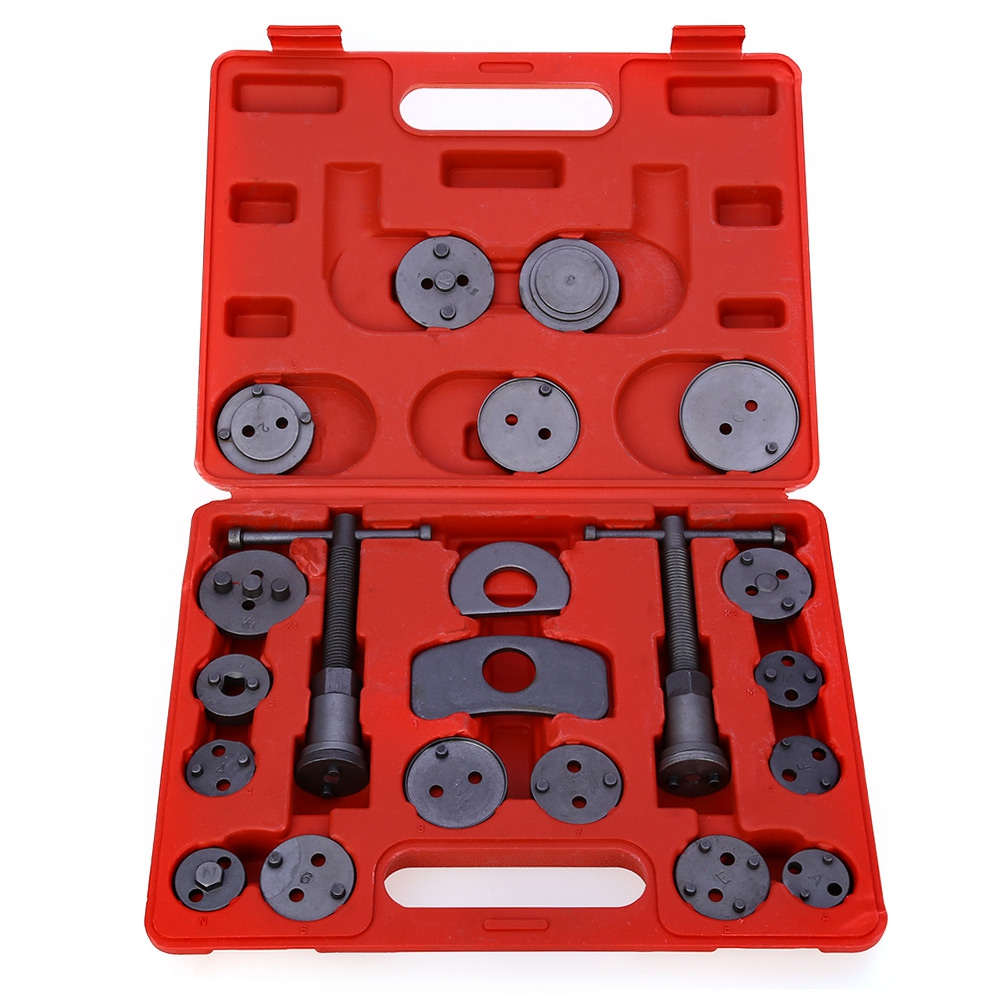 21pcs/Set Universal Car Disc Brake Caliper Rewind Back Brake Piston Compressor Tool Kit Set For Automobiles Garage Repair Tools 2 pair universal car 3d style disc brake caliper covers front rear