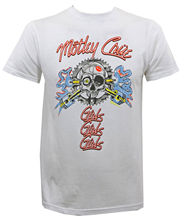 Authentic MOTLEY CRUE Vintage Sparkplug Skull Slim-Fit T-Shirt White S-2XL NEWLoose Black Men T shirts Homme Tees