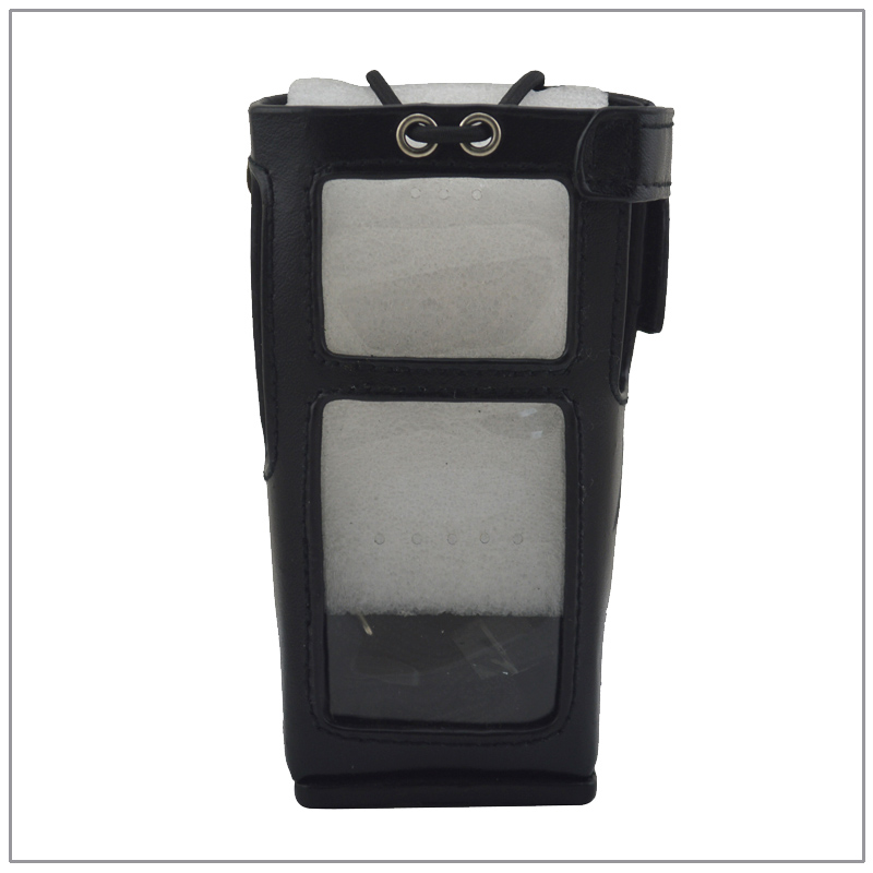 Carrying Bag Leather Case With Belt Strap For Hytera PD785 PD782 PD780 PD982 PD985 DMR Portable 2-way Radio Walkie Talkie