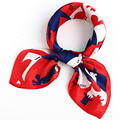 2017 Fashion Bandana Small Square Scarf Horse Printed Hair Accessories 70*70cm Different Styles Trend Girl Scarf
