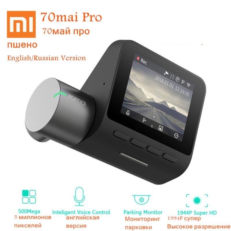 Xiaomi 70mai Traço Cam Pro Inglês/Russo Versão HD 1944 P Câmera Do Carro DVR IMX335 140 Graus FOV Noite versão de Controle de Voz