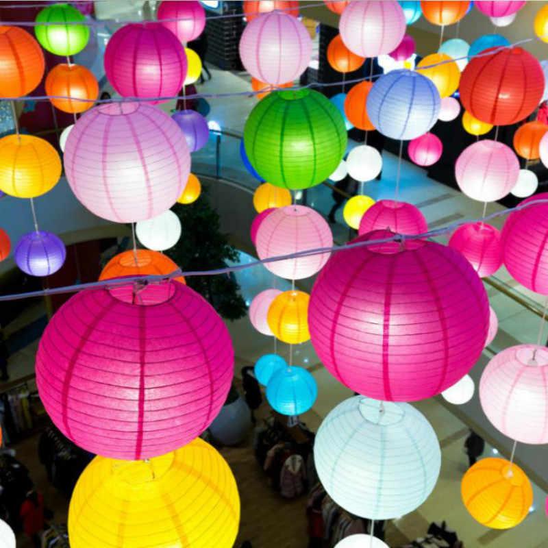 7 kích thước Của Trung Quốc Giấy Đèn Lồng Wedding Engagement Bé Tắm Sinh Nhật Đảng Trang Trí Trang Chủ TỰ Giấy Balls Phòng Ngủ Đèn Ánh Sáng