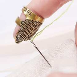 Ретро ручной работы наперсток для шитья палец протектор рукоделие металл латунь наперсток для шитья Вышивание инструменты интимные