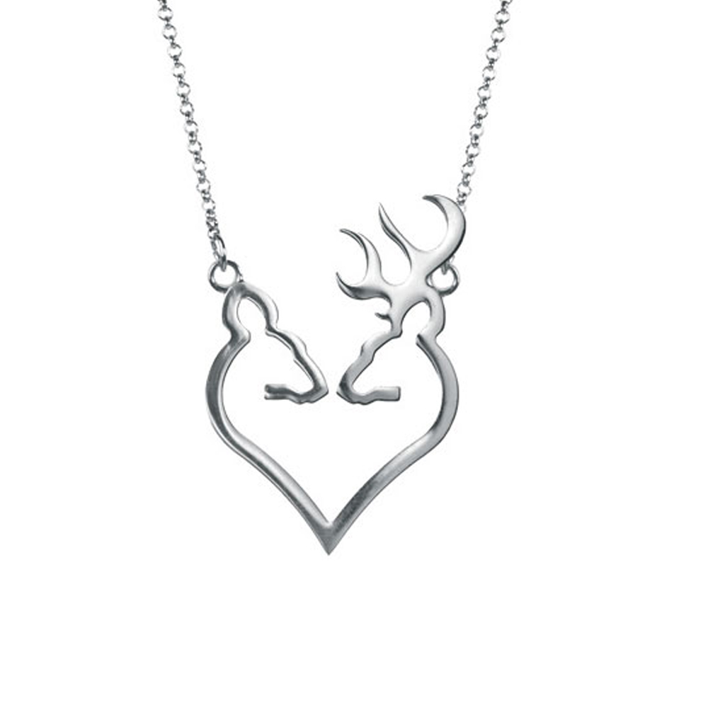 Fashionable sterling silver browning deer necklaces for women fashionable sterling silver browning deer necklaces for women girls true love symbol buck deer necklace in chain necklaces from jewelry accessories on buycottarizona