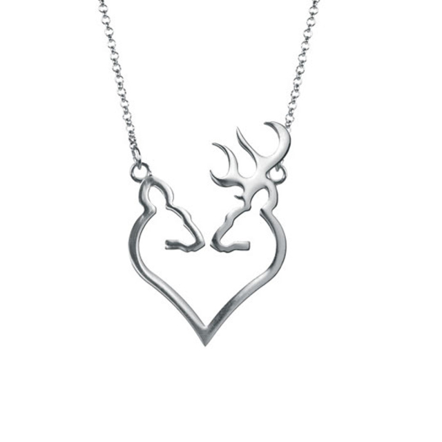Fashionable Sterling Silver Browning Deer Necklaces For Women Girls