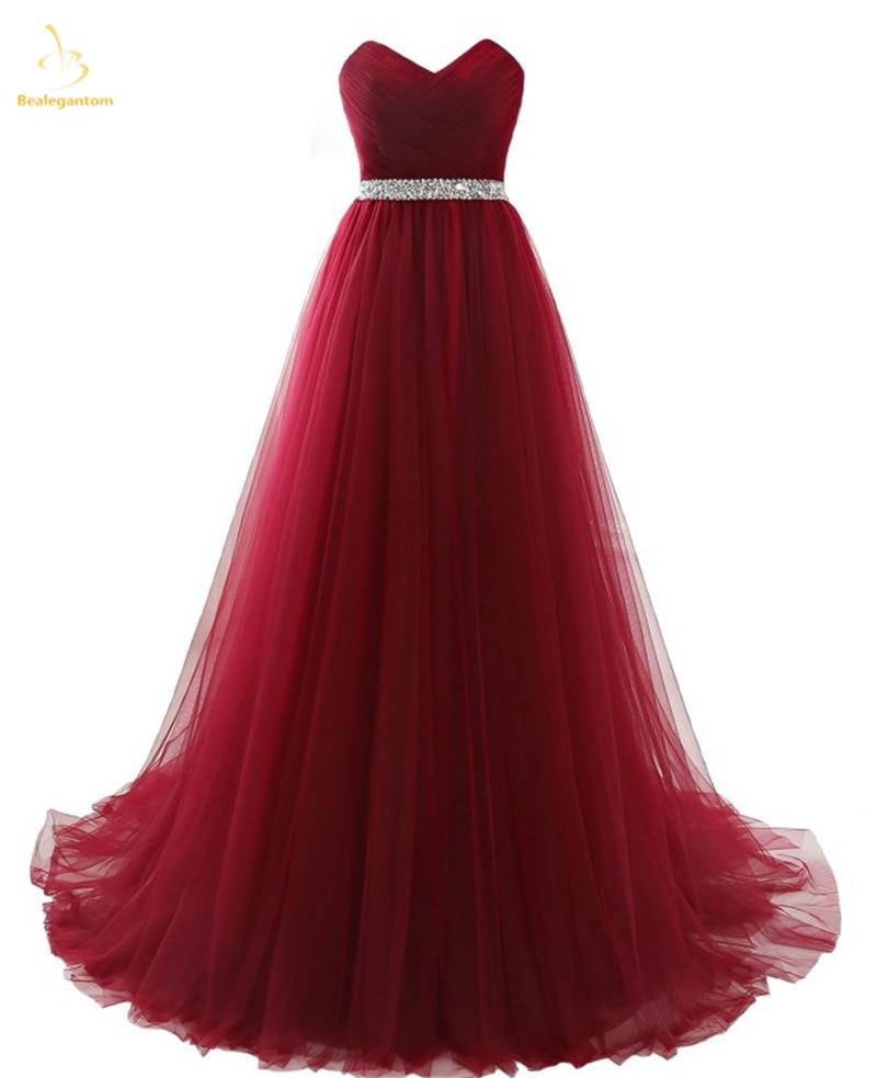 Bealegantom New Elegant Long Blue V Neck Prom Dresses 2019 Beaded Formal Evening Party Gowns Abendkleider Robe De Soiree QA1511