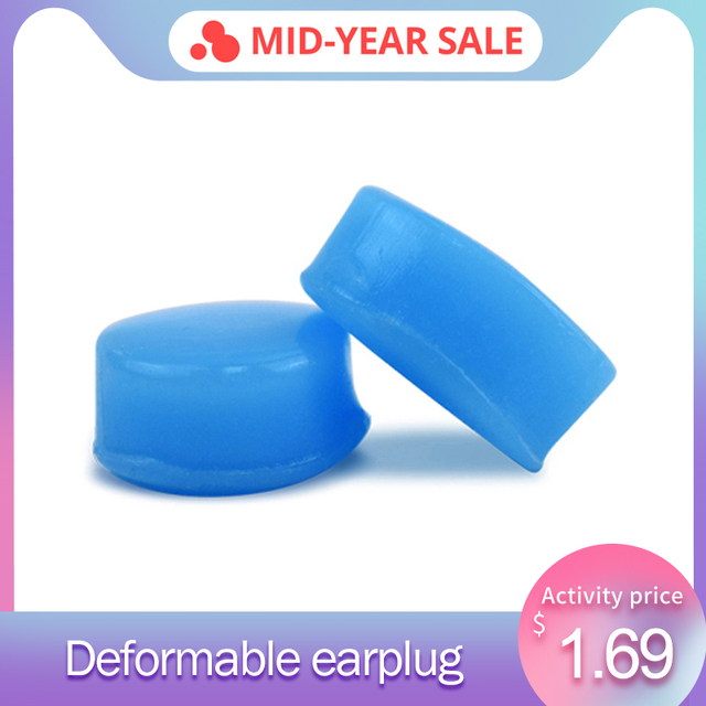 6Pcs Silicone  Anti-Noise Ear Plugs For Sound Insulation Ear Protection Swimming Earplugs Quiet Learn Workplace Safety Earplugs