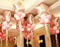 """18 """"Звезда шар set + 8 шт. Латекс + Щепка шнур ленты шары для свадьба украшения шар Надувные шары"""