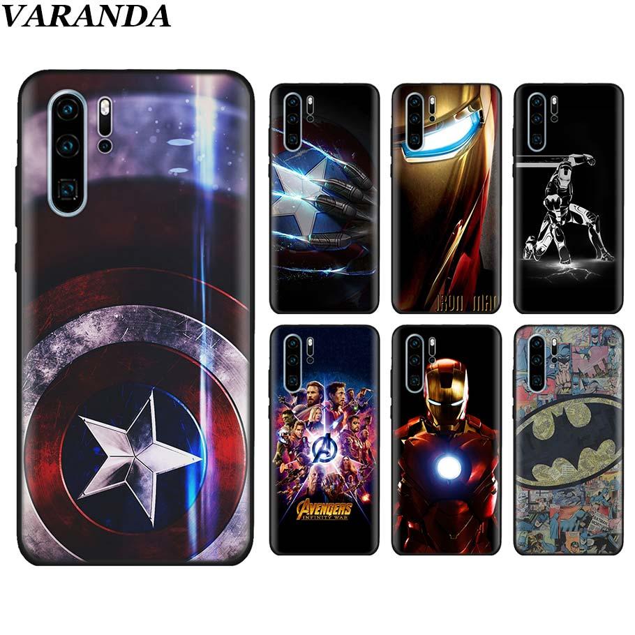 marvel-font-b-avengers-b-font-captain-ironman-superheroes-black-soft-case-for-huawei-p30-p30-pro-p10-p20-lite-p-smart-view-20-silicone-case