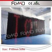 أفضل بائعي aliexpress dmx led الستار rgb led uplight 10ft * 30ft P100mm زفاف بار عرض الفيديو الستار