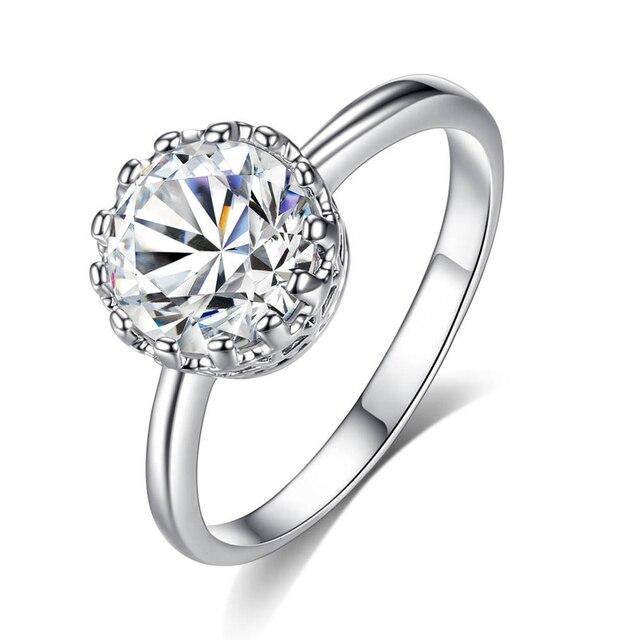 Fworld Crown Ringe Gothic Einsam Zirkonia Plattiert Gold Und Silber