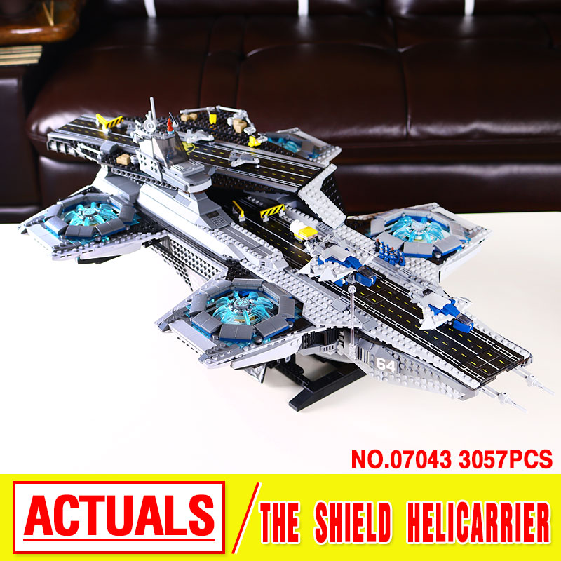 LEPIN 07043 3057pcs New Super Heroes The SHIELD Helicarrier Model Educational Building Kits Blocks Bricks Toys brinquedos 76042 ebay best selling real time gps tracking pets and child
