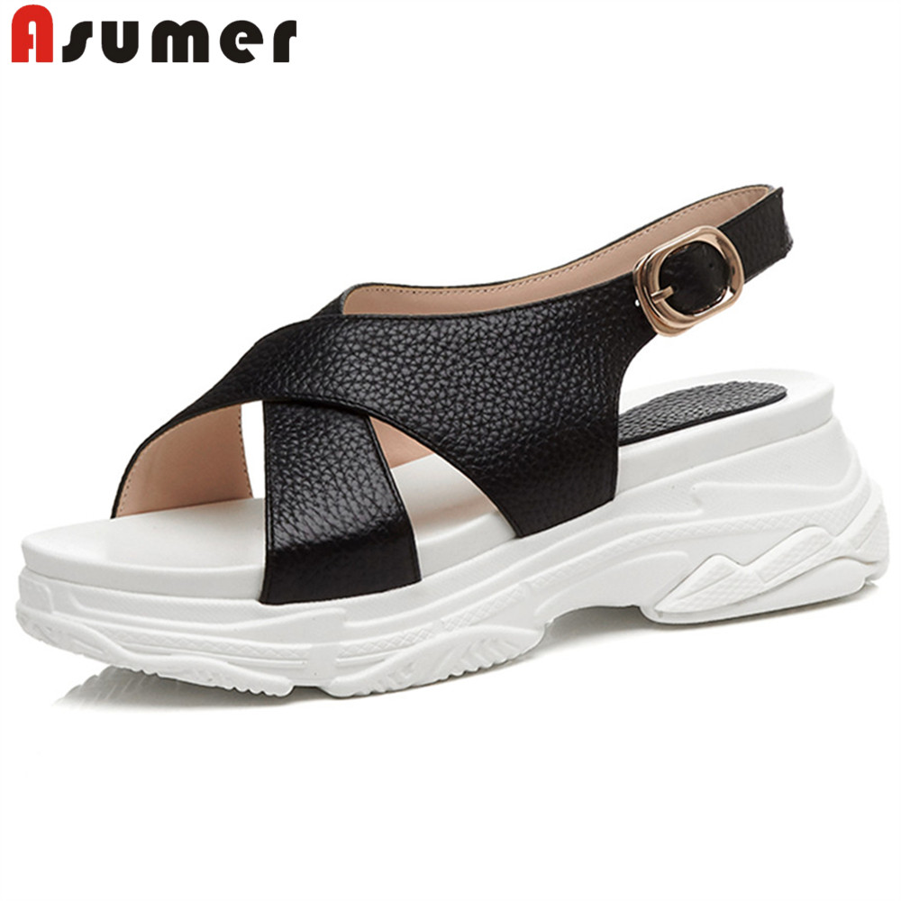 buy popular 6fcc1 fb0e6 ASUMER-summer-new-arrive-shoes-woman-black-white-casual-comfortable -sandals-women-buckle-genuine-leather-shoes.jpg