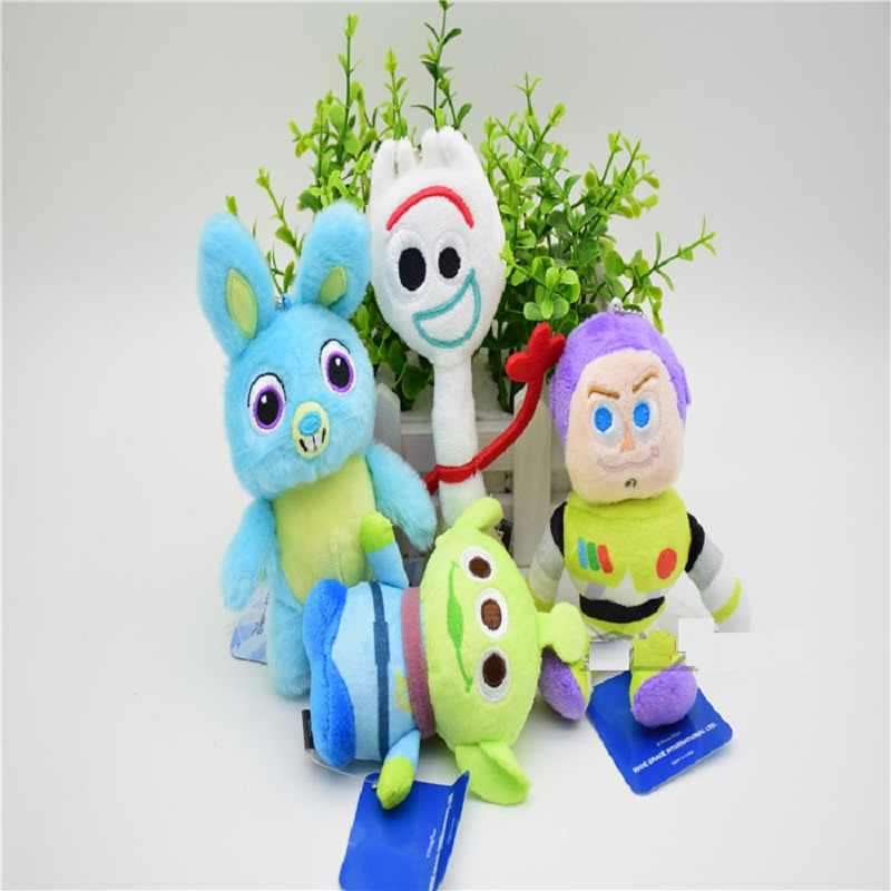 2019 Movie Toy Story 4 Plush Toys Forky Bunny Alien Buzz Lightyear Soft Plush Stuffed Doll Figure Cartoon Kids Toy Children Gift