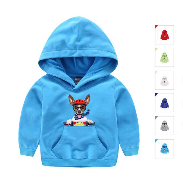 Ropa de los niños Niñas niños Hoodies Del Otoño Del Resorte Ocasional de La Manera Outwear la Manga Completa con Carácter Impreso para Niños