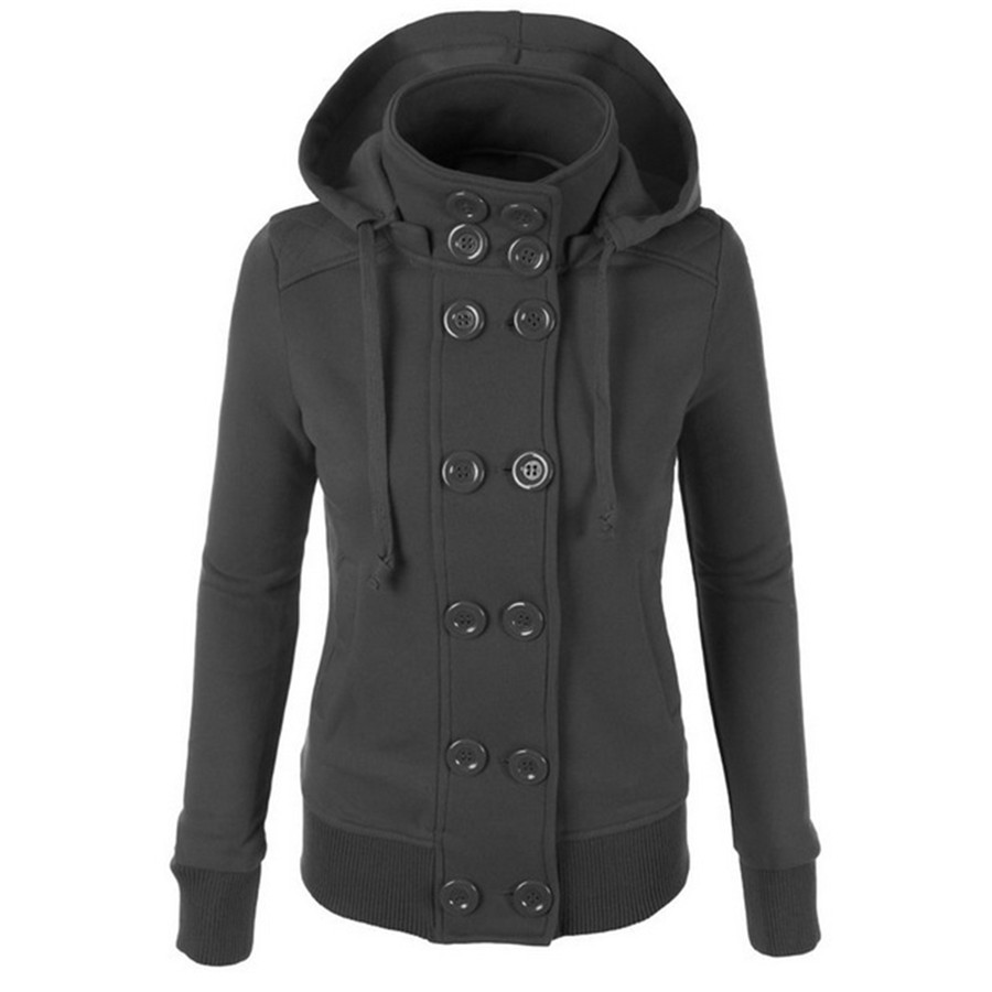 Popular Double Breasted Pea Coat Women-Buy Cheap Double Breasted ...