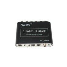 2016 NOUVEAU style5.1 Audio Décodeur SPDIF Coaxial à RCA DTS AC3 numérique à 5.1 Amplificateur Analogique décodeur avec USB pour PS3, lecteur DVD