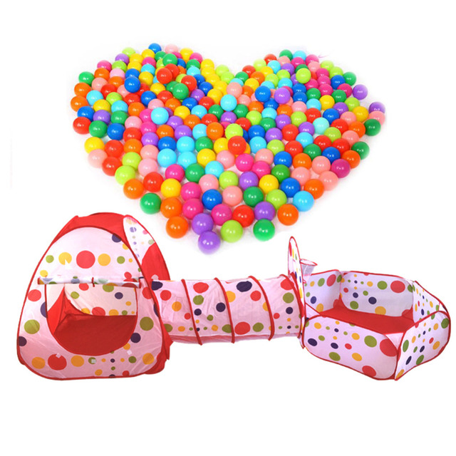 3pc Ball Pool balls for the pool Pool-Tube-Teepee Pop-up Play Yard Tent Pipeline Crawling Game Ocean Baby Kids Play House Toy