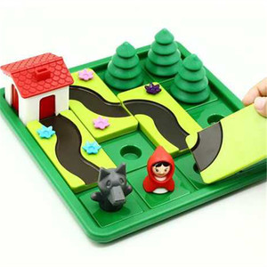 Image 2 - Pouco vermelho equitação capô inteligente iq desafio jogos de tabuleiro quebra cabeça brinquedos para crianças com solução inglês speelgoed brinquedo oyunc51
