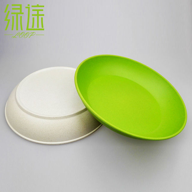 2pcs Deep dishes dinner plate new design deep bowls bamboo fiber dishes cake plates designer plates & 2pcs Deep dishes dinner plate new design deep bowls bamboo fiber ...