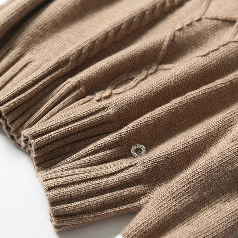 2018 Limitée pièce Costume Haut Col Deux Chandail Tricoté Survêtement Ensemble Féminin Kaki Nouveau Femmes Chaud Cachemire Pantalon Mode Et Rétro q10nqd