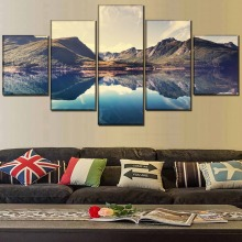 5 Piece Landscape HD Print Painting Wall Art Canvas Living Room Modern Decorative Picture Poster