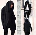 Moda camisola homens hoodies cardigan mantissas capa outerwear plus size vestes Assistente Dominador escuro 4XL fresco impressionante masculino