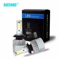 GEETANS H4 Hi Lo Beam LED Car Headlight Bulb 72W 6500K 8000lm Auto Led Headlamp Headlights