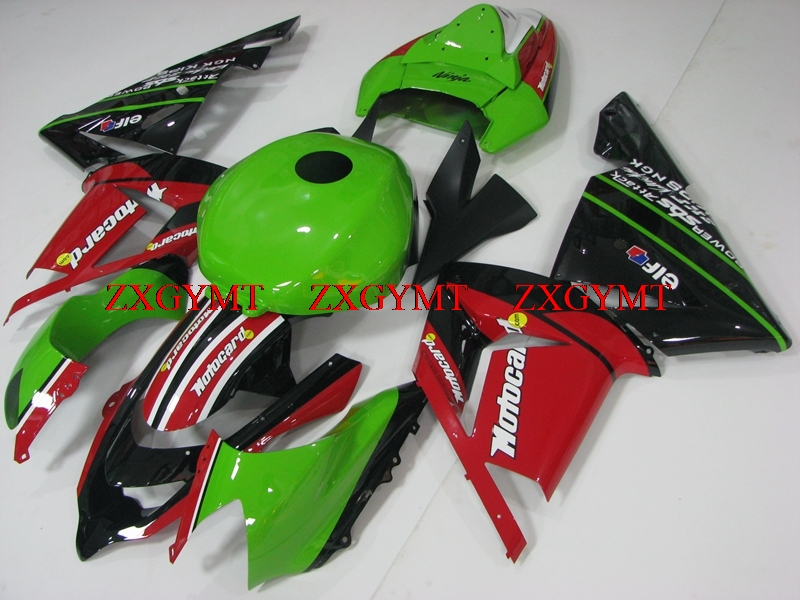 Full Body Kits for ZX-10r 2004 - 2005 Bodywork ZX-10r 04 Green Black Red Fairings ZX10r 2005Full Body Kits for ZX-10r 2004 - 2005 Bodywork ZX-10r 04 Green Black Red Fairings ZX10r 2005