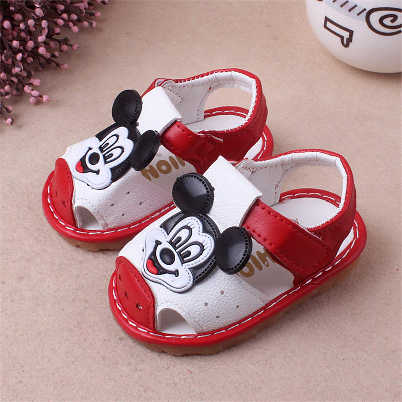 2019 New Disney Cartoon Mickey Summer Girls Anti-kick Boy Called Shoes Soft Leather Baby Toddler Princess Shoes