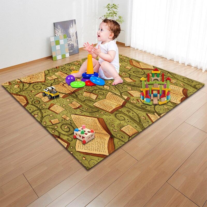 Enfants/bébé ramper tapis de jeu mode 3D Cartoon imprimé enfants jeu tapis doux bébé tapis de jeu tapis de pique-nique en plein air tapis et tapis - 4