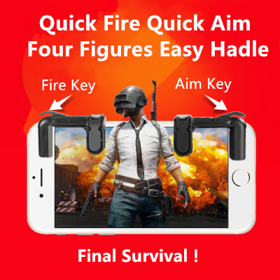 Knives out Rules of Survival Mobile Game Fire Button Aim Key Smart phone Mobile Gaming Trigger L1R1 Shooter Controller PUBG