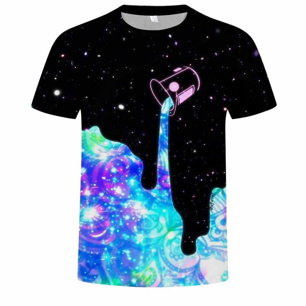 Nueva divertida camiseta de verano para hombres con estampado 3D de cuello redondo cómoda ropa de calle de manga corta camiseta Casual de moda camiseta ropa camiseta