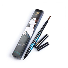 huamianli makeup waterproof automatic eye brow pencil 2 in 1 eyeliner pen 24 hours long-lasting eye enhancer eyebrow tools pen