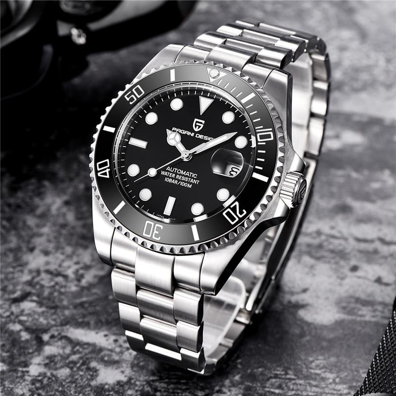 PAGANI PROJETO Marca de Moda Criativa Luxury Men Automatic Relógio Mecânico Luminosa Lazer Calendário Automático Relógio Mecânico