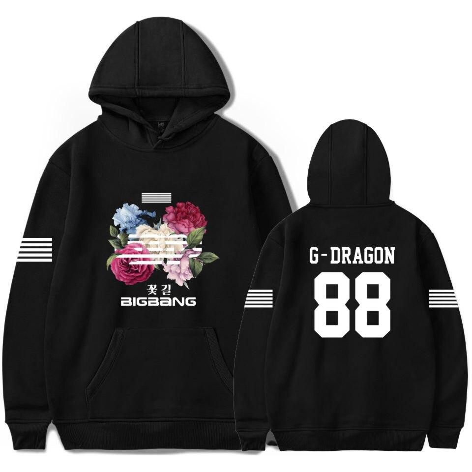 BIGBANG Long Sleeve Cotton Cap Hoodie Autumn Pullover Men/Women Sweatshirt Plus Size 4XL G-DRAGON T.O.P SOL V.I D-LITE NAZZ