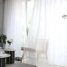 Современный простой белые тюлевые шторы для Гостиная прозрачные Спальня шторы Cortinas Dormitorio оконные шторы